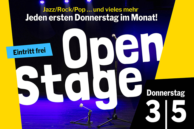 OPEN STAGE (Donnerstag, 03.05.2018)