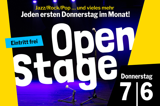 OPEN STAGE (Donnerstag, 07.06.2018)