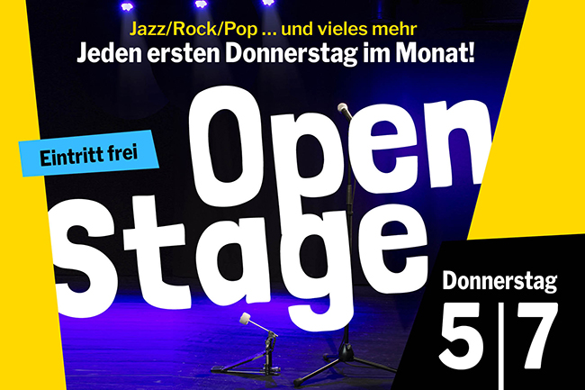 OPEN STAGE (Donnerstag, 05.07.2018)