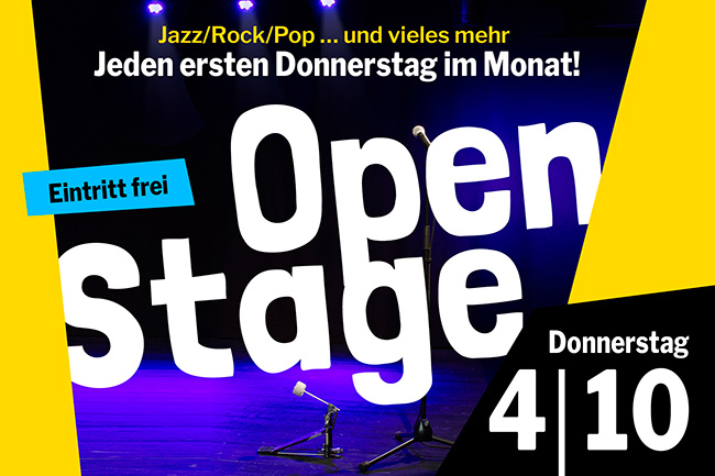 OPEN STAGE (Donnerstag, 04.10.2018)