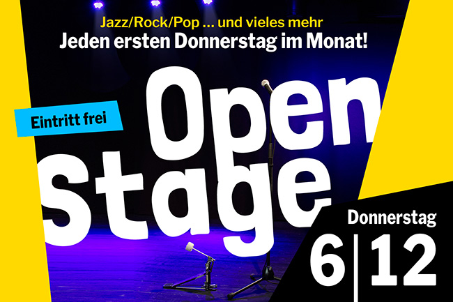 OPEN STAGE (Donnerstag, 06.12.2018)