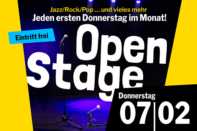 OPEN STAGE (Donnerstag, 07.02.2019)
