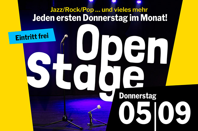 OPEN STAGE (Donnerstag, 05.09.2019)